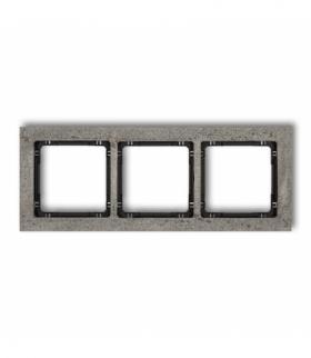 DECO Ramka uniwersalna potrójna - beton (ramka ciemnoszary spód czarny) Ciemnoszary Karlik 28-12-DRB-3