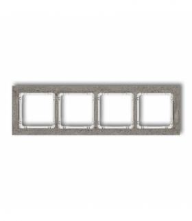 DECO Ramka uniwersalna poczwórna - beton (ramka ciemnoszary spód biały) Ciemnoszary Karlik 28-0-DRB-4