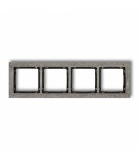 DECO Ramka uniwersalna poczwórna - beton (ramka ciemnoszary spód czarny) Ciemnoszary Karlik 28-12-DRB-4