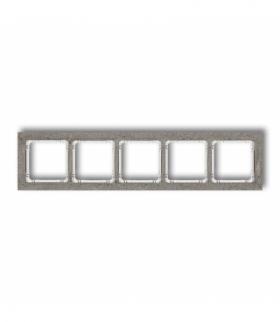 DECO Ramka uniwersalna pięciokrotna - beton (ramka ciemnoszary spód biały) Ciemnoszary Karlik 28-0-DRB-5