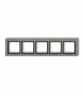 DECO Ramka uniwersalna pięciokrotna - beton (ramka ciemnoszary spód czarny) Ciemnoszary Karlik 28-12-DRB-5