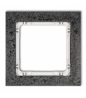 DECO Ramka uniwersalna pojedyncza - beton (ramka antracytowa spód biały) Antracyt Karlik 11-0-DRB-1