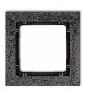 DECO Ramka uniwersalna pojedyncza - beton (ramka antracytowa spód czarny) Antracyt Karlik 11-12-DRB-1