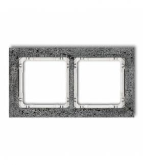 DECO Ramka uniwersalna podwójna - beton (ramka antracytowa spód biały) Antracyt Karlik 11-0-DRB-2