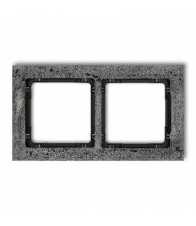 DECO Ramka uniwersalna podwójna - beton (ramka antracytowa spód czarny) Antracyt Karlik 11-12-DRB-2