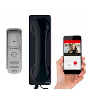 """WIDEODOMOFON """"EURA"""" VDP-50A3 """"PROXIMA"""" BIAŁY – unifon z WiFi, obsługa 1 wejścia, aplikacja Eura Connect"""