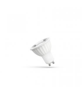 LED GU10 230V 4W SMD 45stopni zimna CW Z SOCZEWKĄ SPECTRUM WOJ+14091