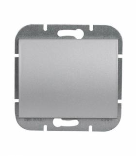 Onyx Wyłącznik klawiszowy zwierny p/t 10A, 250V światło, dzwonek (uniwersalny) WP-6/7O SREBRNY Abex 9002219