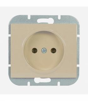 Onyx Gniazdo wtyczkowe pojedyncze p/t 2p 16A, 250V PT-15O BEŻOWY Abex 9002254