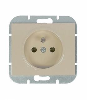 Onyx Gniazdo wtyczkowe pojedyncze p/t 2p+Z 16A, 250V PT-16O BEŻOWY Abex 9002267