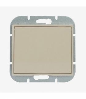 Onyx Gniazdo wtyczkowe pojedyncze p/t 2p+Z 16A, 250V, bryzgoodporne z klapką w kolorze wyrobu (LH) PT-16OH BEŻOWY Abex 9002289