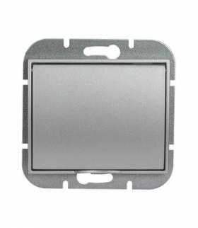 Onyx Gniazdo wtyczkowe pojedyncze p/t 2p+Z 16A, 250V, bryzgoodporne z klapką w kolorze wyrobu (LH) PT-16OH SREBRNY Abex 9002294