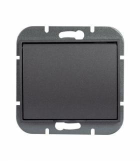Onyx Gniazdo wtyczkowe pojedyncze p/t 2p+Z 16A, 250V, bryzgoodporne z klapką w kolorze wyrobu (LH) PT-16OH ANTRACYT Abex 9002301