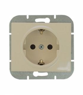 Onyx Gniazdo wtyczkowe pojedyncze p/t 2p+Z 16A, 250V, SCHUKO PT-17O BEŻOWY Abex 9002303