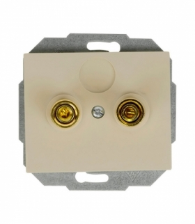 Onyx Gniazdo głośnikowe pojedyncze (zaciski śrubowe, wtyki bananowe) PT-2OG BEŻOWY Abex 9002290