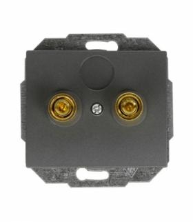 Onyx Gniazdo głośnikowe pojedyncze (zaciski śrubowe, wtyki bananowe) PT-2OG ANTRACYT Abex 9002293