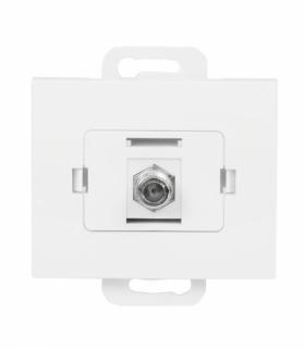 Onyx Gniazdo TV pojedyncze typu F TV-F/F/01 BIAŁY Abex 9002327