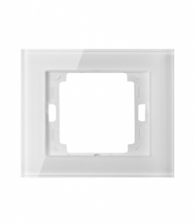 Onyx Ramka pojedyncza szklana do serii Onyx RA-1O szkło biały Abex