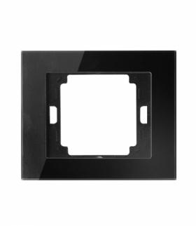 Onyx Ramka pojedyncza szklana do serii Onyx RA-1O szkło czarny Abex