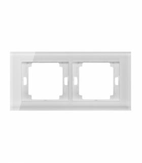Onyx Ramka podwójna szklana do serii Onyx RA-2O szkło biały Abex
