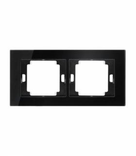 Onyx Ramka podwójna szklana do serii Onyx RA-2O szkło czarny Abex