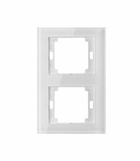Onyx Ramka podwójna szklana pionowa do serii Onyx RA-2OP szkło biały Abex