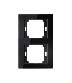 Onyx Ramka podwójna szklana pionowa do serii Onyx RA-2OP szkło czarny Abex