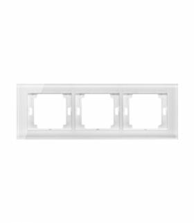 Onyx Ramka potrójna szklana do serii Onyx RA-3O szkło biały Abex