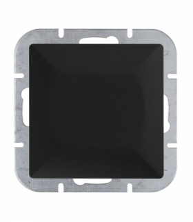 Perła Wyłącznik klawiszowy instalacyjny p/t 10A, 250V, schodowy,podświetlany WP-1P/S CZARNY MAT Abex 9001778