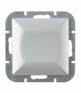 Perła Wyłącznik klawiszowy instalacyjny p/t 10A, 250V, schodowy,podświetlany WP-1P/S SREBRNY Abex 9000112