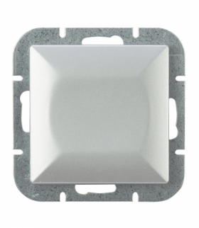 Perła Wyłącznik klawiszowy instalacyjny p/t 10A, 250V, schodowy,podświetlany WP-5P/S SREBRNY Abex 9000130
