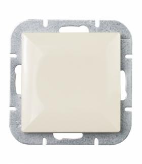 Perła Wyłącznik klawiszowy zwierny p/t 10A, 250V światło , dzwonek(uniwersalny) WP-6/7P BEŻOWY Abex 9000068