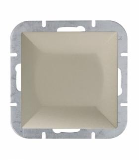 Perła Wyłącznik klawiszowy zwierny p/t 10A, 250V światło , dzwonek(uniwersalny) WP-6/7P SATYNA Abex 9000071