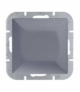 Perła Wyłącznik klawiszowy zwierny światło,dzwonek p/t 10A, 250V podświetlany WP-6/7P/S ANTRACYT Abex 9000143