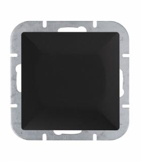 Perła Wyłącznik klawiszowy zwierny światło,dzwonek p/t 10A, 250V podświetlany WP-6/7P/S CZARNY MAT Abex 9001508