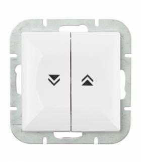 Perła Wyłącznik żaluzjowy zwierny p/t 10A, 250V(moduł) WP-10P BIAŁY Abex 9000085