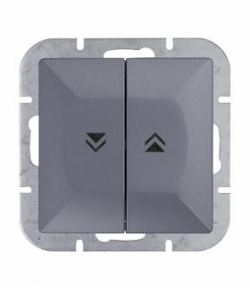 Perła Wyłącznik żaluzjowy zwierny p/t 10A, 250V(moduł) WP-10P ANTRACYT Abex 9000091