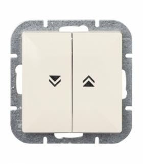 Perła Wyłącznik żaluzjowy zwierny p/t 10A, 250V(moduł) WP-10P BEŻOWY Abex 9000086