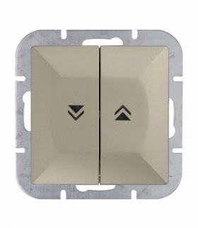 Perła Wyłącznik żaluzjowy zwierny p/t 10A, 250V(moduł) WP-10P SATYNA Abex 9000089