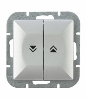 Perła Wyłącznik żaluzjowy zwierny p/t 10A, 250V(moduł) WP-10P SREBRNY Abex 9000087