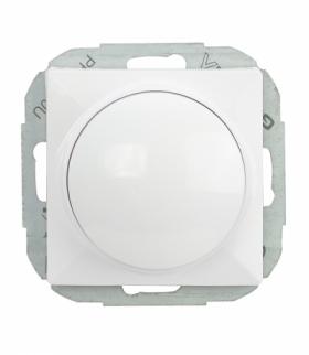 Perła Ściemniacz obrotowy 230V, 50Hz, Pmin:60W, Pmax:400W (moduł) SO-P BIAŁY Abex 9000218
