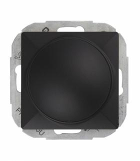 Perła Ściemniacz obrotowy 230V, 50Hz, Pmin:60W, Pmax:400W (moduł) SO-P CZARNY MAT Abex 9001519