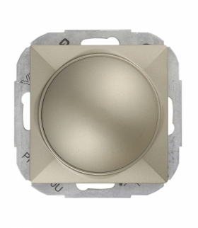 Perła Ściemniacz obrotowy 230V, 50Hz, Pmin:60W, Pmax:400W (moduł) SO-P SATYNA Abex 9000222