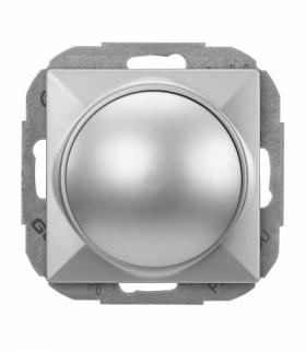 Perła Ściemniacz obrotowy 230V, 50Hz, Pmin:60W, Pmax:400W (moduł) SO-1P SREBRNY Abex T-96597