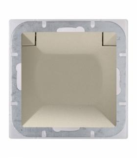Perła Gniazdo wtyczkowe pojedyncze p/t 2p+Z 16A, 250V, bryzgoodporne z klapką w kolorze wyrobu (PH) PT-16PH SATYNA Abex 9000204