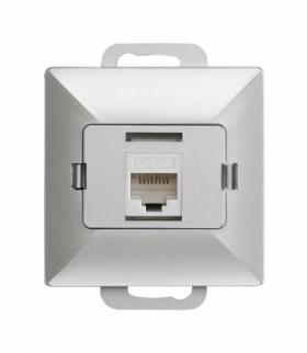 Perła Gniazdo RJ45 komputerowe pojedyncze nieekranowane 5Cat GTP-10P/M SREBRNA Abex 9000265