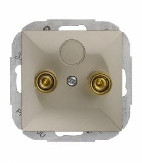 Perła Gniazdo głośnikowe pojedyncze (zaciski śrubowe,wtyki bananowe) PT-2PG SATYNA Abex 9000213