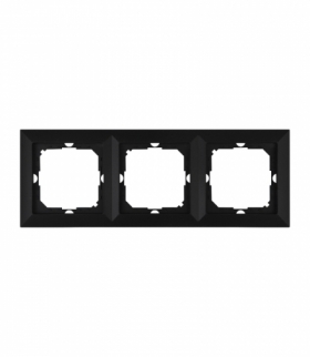 Perła Ramka trzykrotna do serii Perła RA-3P CZARNY MAT Abex 9001512