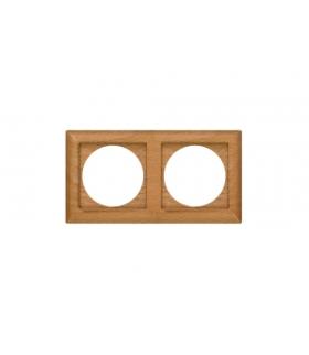 Perła Ramka drewniana podwójna do serii Perła RA-2PN BUK Abex 9000335