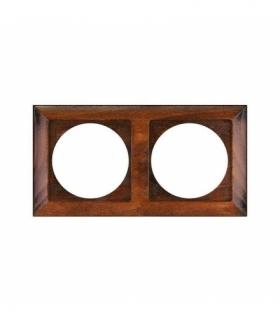 Perła Ramka drewniana podwójna do serii Perła RA-2PN TEAK Abex 9000336
